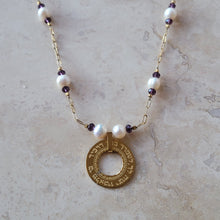 Load image into Gallery viewer, Psalms 91:11 Necklace with Pearls