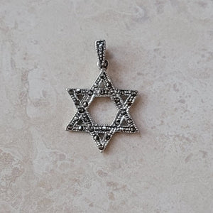 Silver and Marcasite Star of David