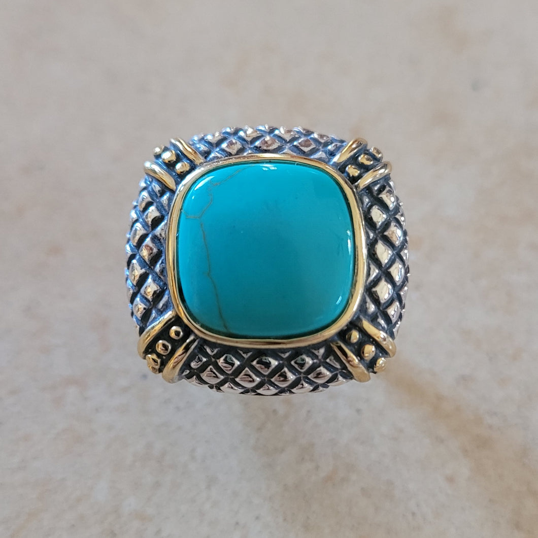 Silver with Turquoise Ring