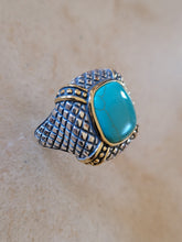 Load image into Gallery viewer, Silver with Turquoise Ring