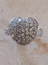 Load image into Gallery viewer, Silver Pave' Heart Ring