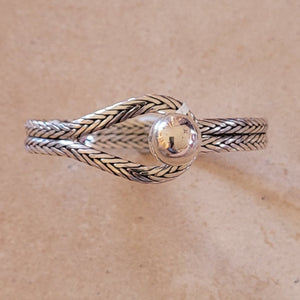 Silver Ball in Hoop Bracelet