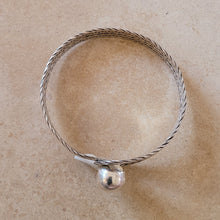 Load image into Gallery viewer, Silver Ball in Hoop Bracelet