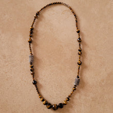 Load image into Gallery viewer, Tiger Eye and Marquisite Necklace
