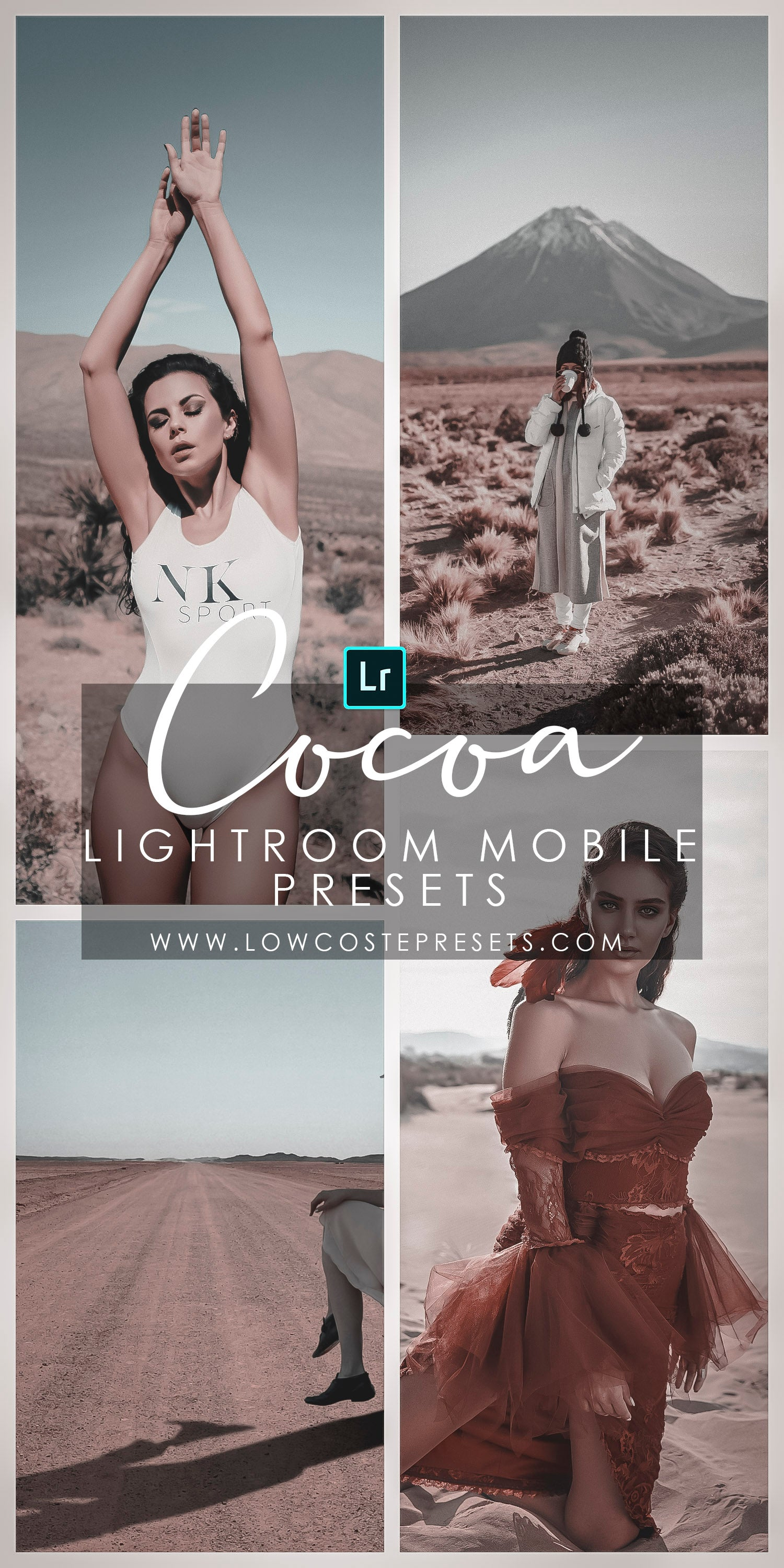 Cocoa Presets Lightroom Mobile Filter Influencer Faux Tan Look Dark Skin Effects