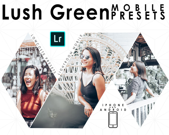 Lush Green Lightroom Mobile Presets Premium Filters