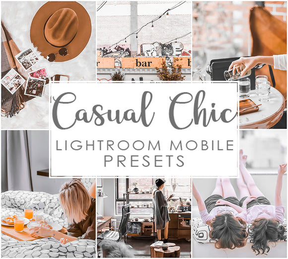 Casual Chic Modern LIghtroom Mobile Presets Trendy 2020 filters