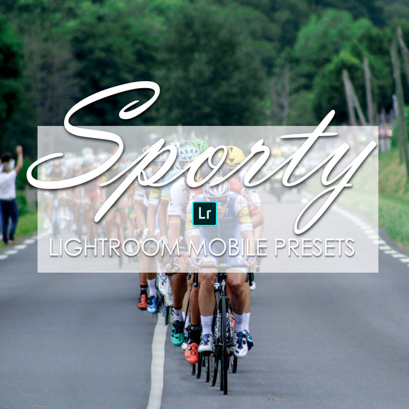 Sporty Lightroom Mobile Presets Fitness filter Cycling