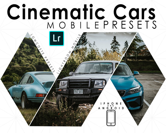 cinematic car presets mobile lightroom