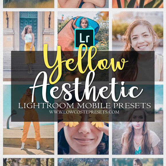 Yellow Aesthetic Filters for instagram influencers bright presets mobile