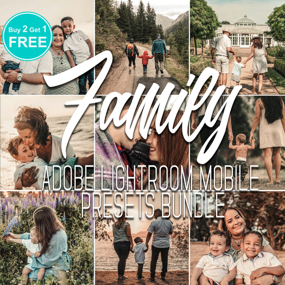Family Portrait Preset Lightroom Mobile Bundle