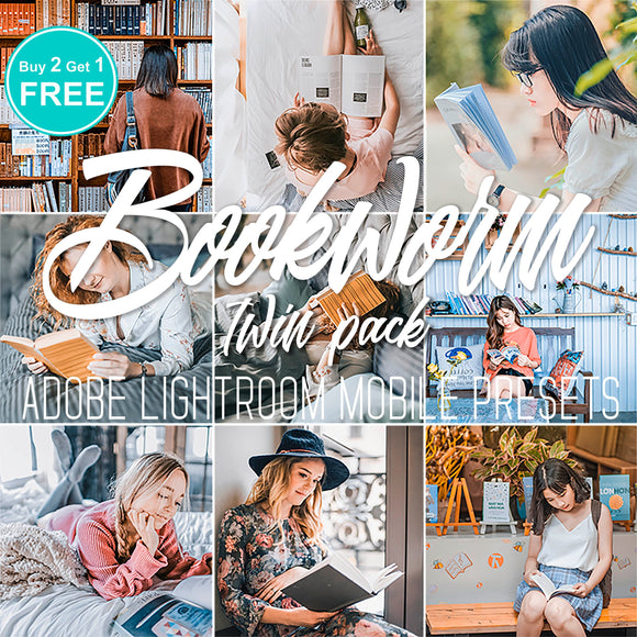 5 preset pack bookworm lightroom cc mobile premium