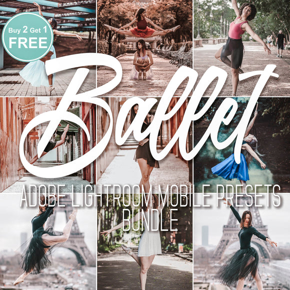 Ballet Presets Bundle For Lightroom Mobile Ballerina Filter - 4 Pack