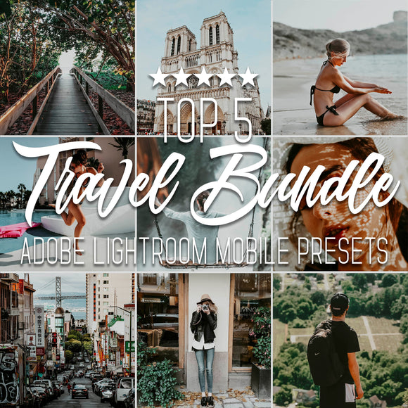 Top 5 Travel Bundle Lightroom Mobile Presets