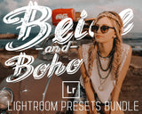 Beige And Boho Lightroom Presets Bundle For Desktop Warm Filters Vsco Inspired