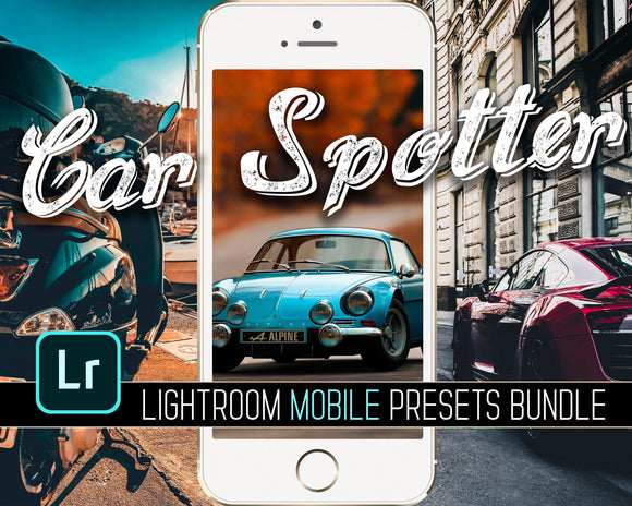 Car Spotter Lightroom Mobile Presets Bundle Lowcoste