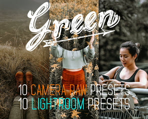 Green Lightroom Presets 10 Camera Raw Desktop Photoshop