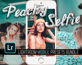 Peachy Selfie Lightroom Mobile Preset Bundle