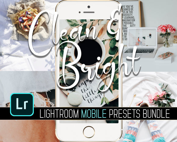 Clean & Bright Lightroom Mobile Presets Bundle
