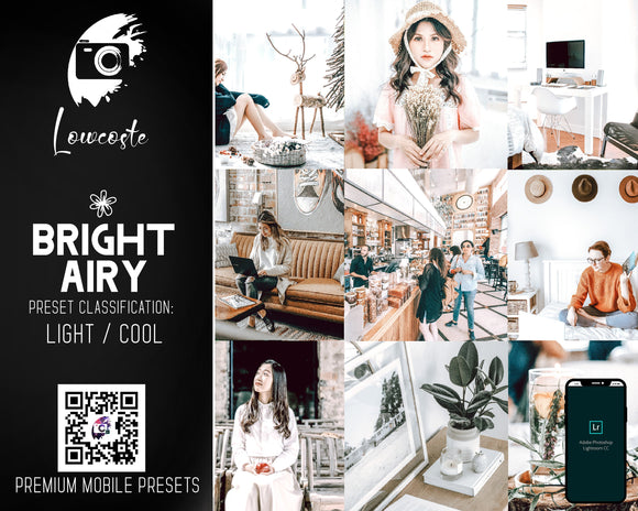 Bright And Airy - Bright Presets - Lightroom Mobile Presets - Indoor Bright - Natural Light