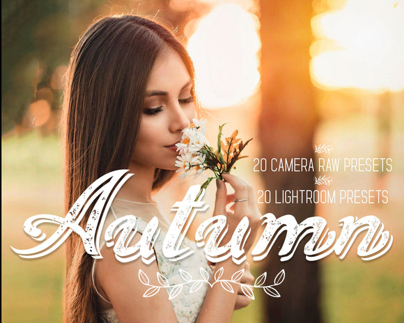Lightroom Presets and Camera Raw Presets Adobe Acr Autumn For Desktop - Photoshop Presets - Warm Presets Bundle - For Amateurs and Pro