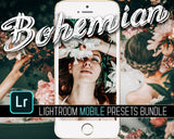 Boho Bohemian moody lightroom presets bundle