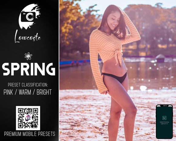 Spring Pink Warm Bright Lighroom Mobile Presets