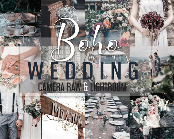 Boho Wedding Presets - Camera Raw Presets - Desktop Lightroom Presets - Cool Film Presets - Wedding Bundle - Bohemian Presets - Adobe ACR