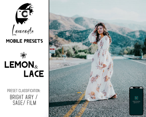 Lemon & Lace Bright airy mobile presets