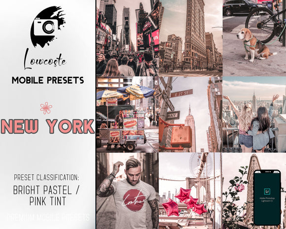 New York Lightroom Mobile Preset Bright Pastel