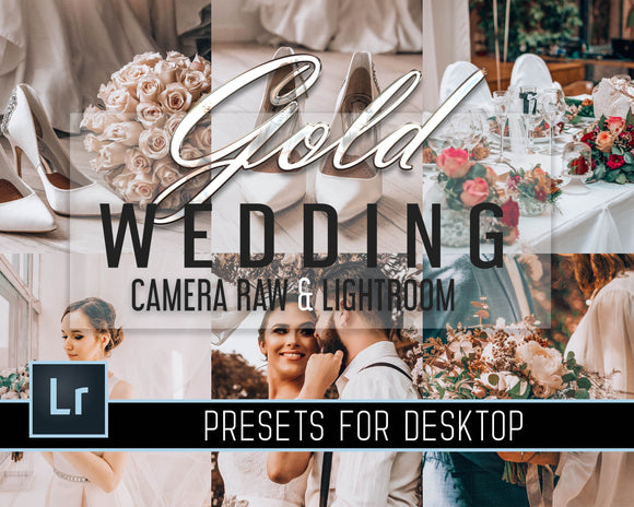 Gold Wedding Presets - Camera Raw Presets - Desktop Lightroom Presets - Warm Film Presets - Wedding Bundle - Bright Sharp Preset - Adobe ACR