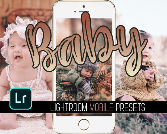 Lightroom Mobile Preset - Baby Preset - Instant Photo Editing Filter - Instagram Mom Blogger - Warm Colors - Mobile Editing