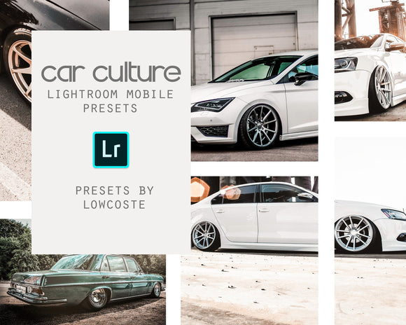 Car Culture Lightroom Mobile Presets Lowcoste Presets
