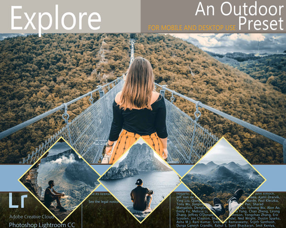 Explore Photoshop Lightroom CC Outroor Preset