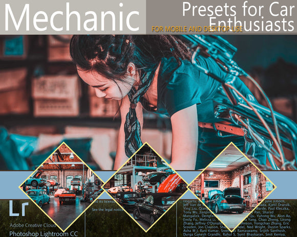 Mechanic Car Presets Lightroom