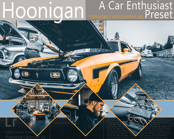 Hoonigan car photography preset