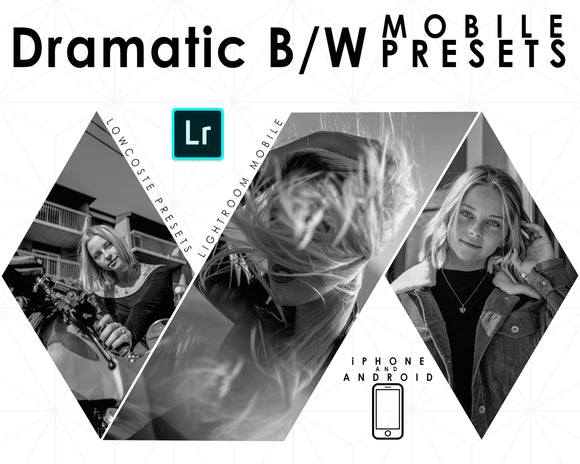 Dramatic Black & White Presets Mobile Filter