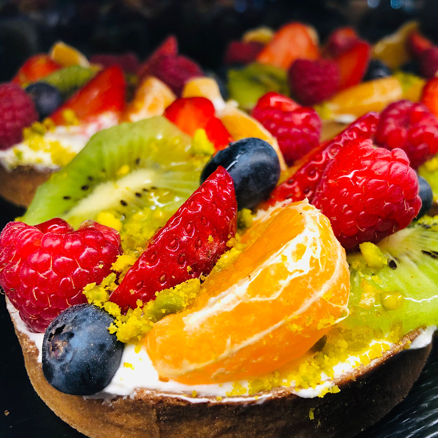 Tarte aux fruits et mascarpone