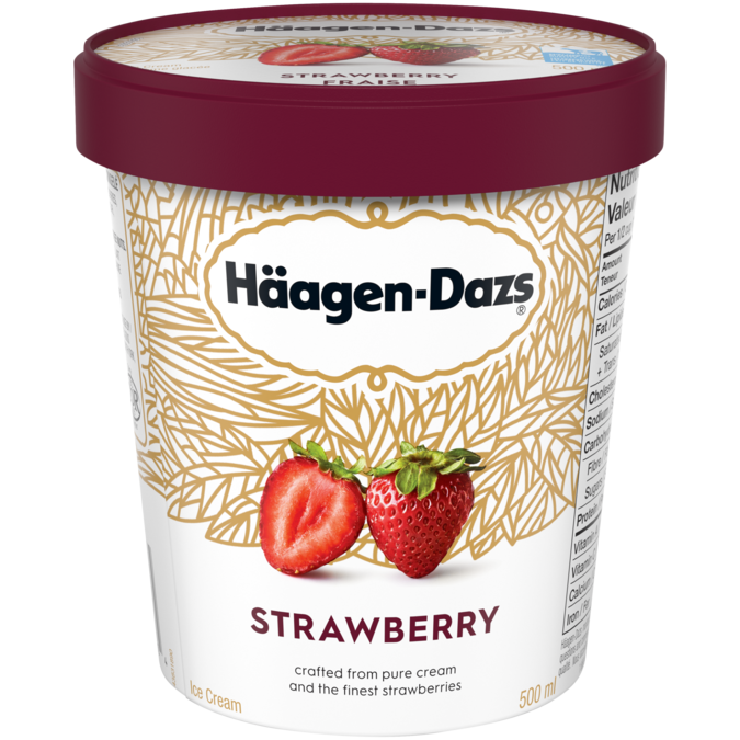 Häagen-Dazs Strawberry Ice Cream (500ml)