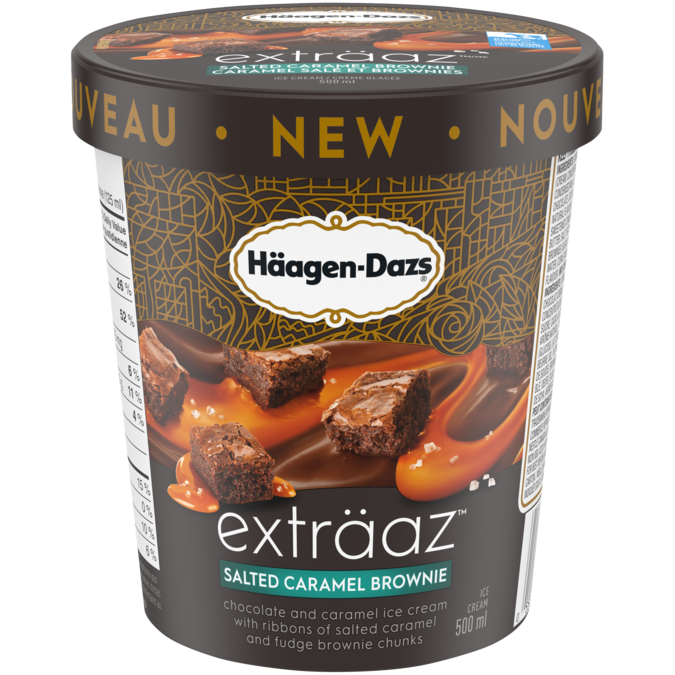 Häagen-Dazs Exträaz Salted Caramel Brownie Ice Cream (500ml)