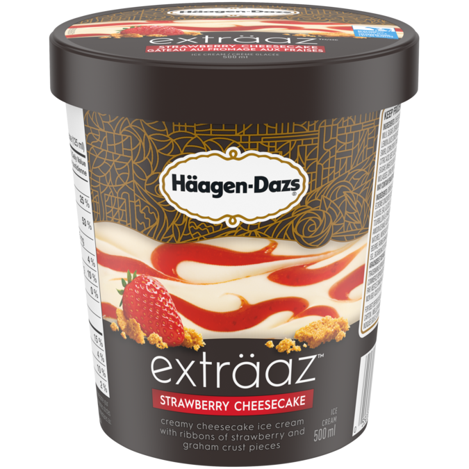 Häagen-Dazs Exträaz Strawberry Cheesecake Ice Cream (500ml)