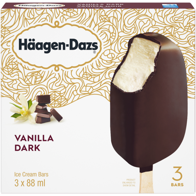 Häagen-Dazs Vanilla Dark Chocolate Bars (3)