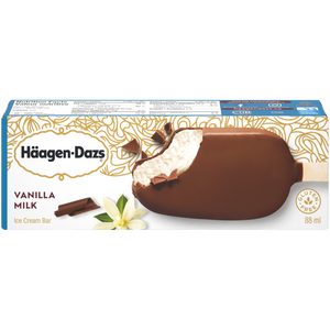 Häagen-Dazs Vanilla Milk Chocolate Single Full Sized Individually Boxed Bar (2)