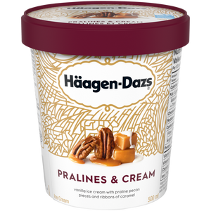 Häagen-Dazs Pralines & Cream Ice Cream (500ml)