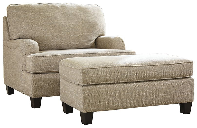 Almanza Signature Design 2-Piece Chair and Ottoman Set