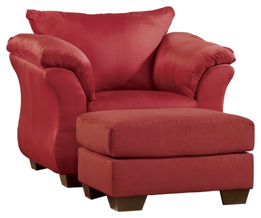 Darcy Signature Design 2-Piece Chair and Ottoman Set