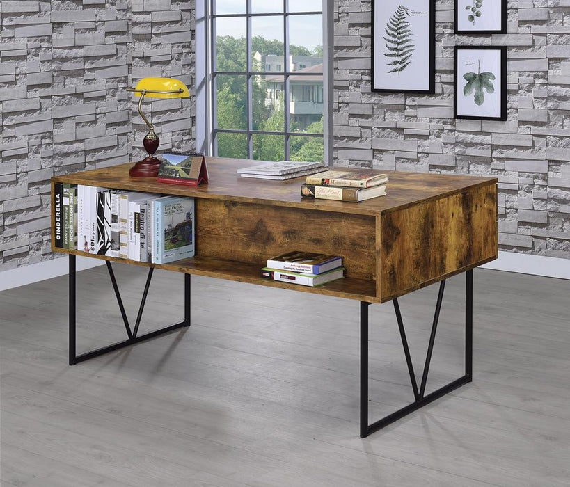 Analiese Industrial Antique Nutmeg Writing Desk