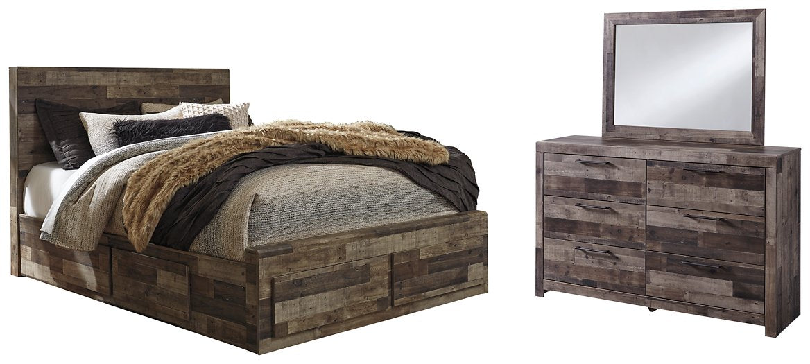Derekson Benchcraft 5-Piece Bedroom Set with 6 Storage Drawers
