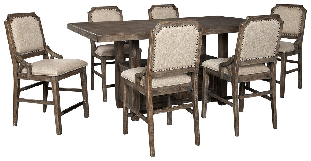 Wyndahl Signature Design Counter Height 7-Piece Dining Room Set