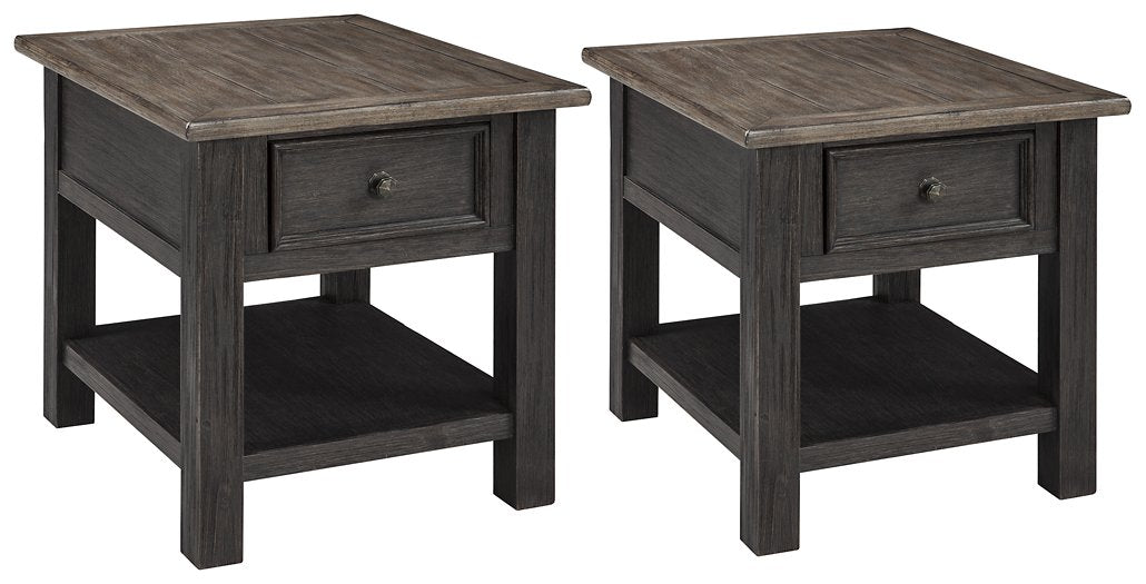 Tyler Creek Signature Design 2-Piece End Table Set